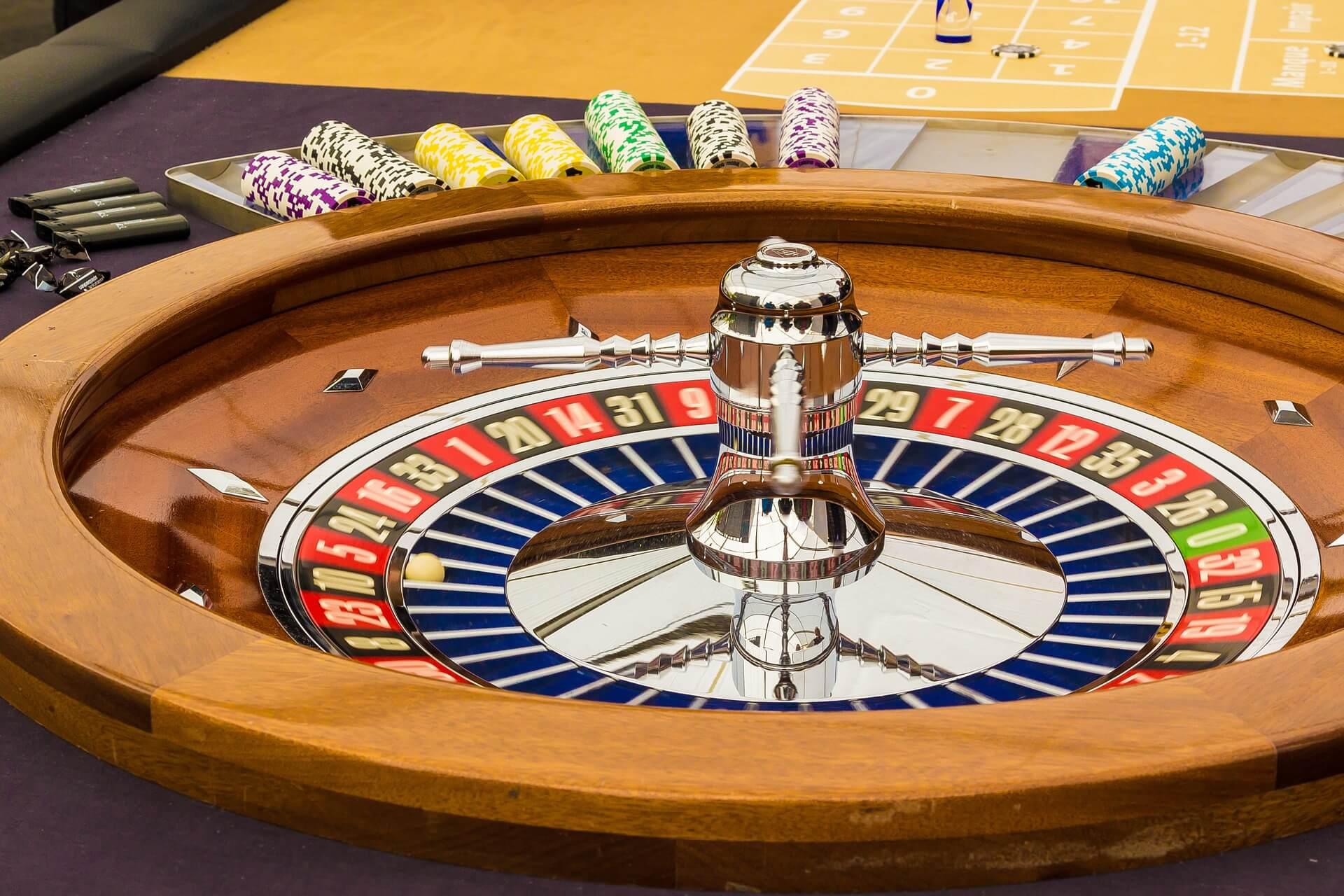 las vegas casino roulette table