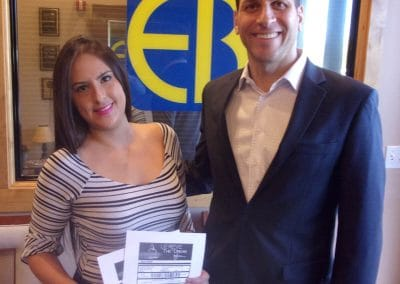 Le Reve contest winner with Injury Attorney Eric Blank