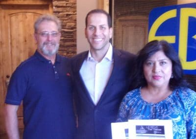 Le Reve Ticket Winners with Injury Attorney Eric Blank