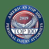 top 100 personal injury attorneys 2019 logo