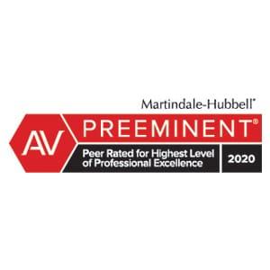preeminent peer rated award